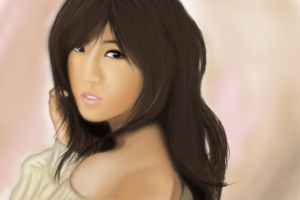 Speedpainting APink Park Chorong Pink Luv by Foxfire025