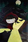 Little red creepy hood by Poppysleaf