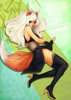 Fox girl by LovliKitsune