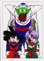 Goten,Trunks, Piccolo Zombies by sylargrey11