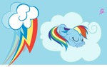 Rainbow dash wallpaper by erikagaga