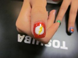 The Flash Thumb by sharpnailart