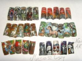 Nail art collection new a by MesiaszCiszy