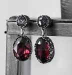 Burgundy Gothic Earrings by Aranwen