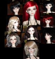 Lillian Modeling Wigs by WeepingPiano