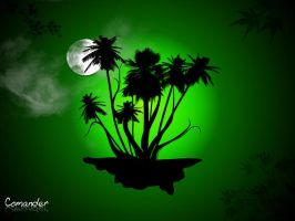Hovering Palms by comodore64