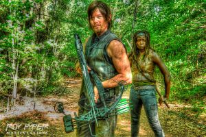 The Walking Dead: Daryl And Michonne: HDR Re-Edit by nerdboy69