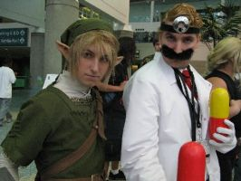 Dr. Mario and Link Ax 2008 by Mastershambler