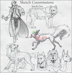 Sketch commissions (Batch 1) by NinjaKato
