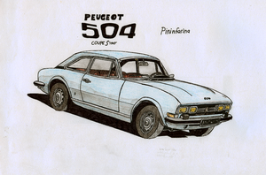 Peugeot 504 Coupe S by BlackLeatheredOokami