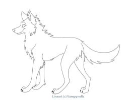 Free Wolf Lineart by Vampynella