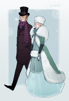 1890s fashion - Winter by Nibilondiel