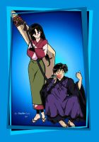 Miroku and Sango by Pindragnet