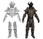 Dragonbone Armor, smoothed / HD 3D Models by vrogy