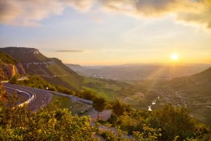 Sunset over Millau by insolitus85