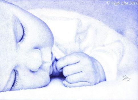 Baby ballpen drawing by 22Zitty22