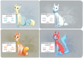 Conduit Cats 1-4 (all sold!) by OhNoNoel
