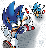 Sonic vs Sanic by WaniRamirez