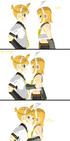 Happy B-day Len and Rin by DeathNoteE