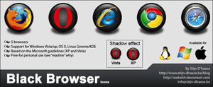 Black Browser Icons by webshit
