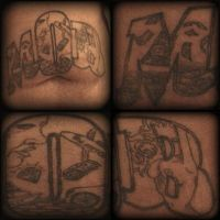 M.O.B on stomach 2 by soldiersinktattoos