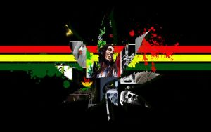 Marijuana Jamaica Raggae Wall by kinderitza