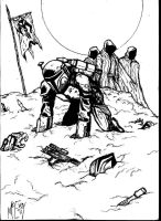 mandalorian massacre - ink by UGCcomics
