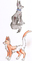 Krawa and Flame. by thedoomedkitteh