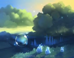 follow the bubble by Apofiss