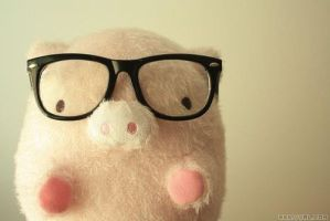 Nerd pig plush by JennaJennaj