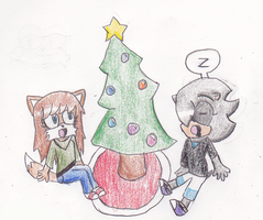 Waiting for santa by QueenIntrovert