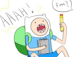 Finn's Epic Scream by MissKadaj