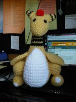 Crocheted Ampharos from patter by DearAngelTori
