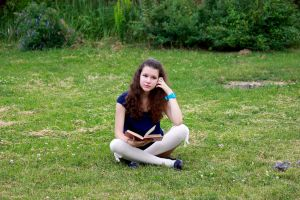 Reading in the garden? Why not. by OlgaLimon