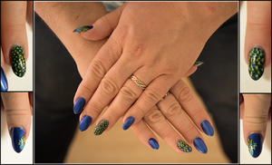 Peacock Nail Art by elvaniel