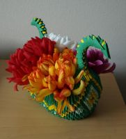 Dragon Boat (3D Origami) by Denierim