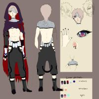 Character Sheet commission :xxannavanityxx by dreamingmainichi