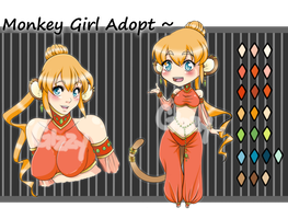 Monkey Girl Adopt [[CLOSED]] by MamaGizzy