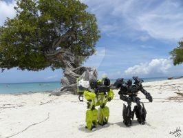 Ironhide and Ratchet in Aruba by Letohatchee
