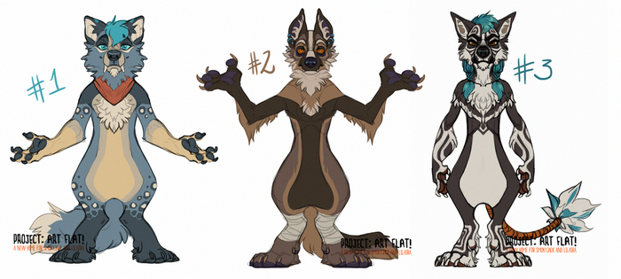 Anthro Canine Adoptables CLOSED by LiLaiRa