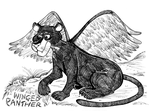 Monster a Day Art Challenge: 18. Winged Panther by Granitoons