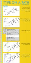 Type on a path Arabic tutorial by iAiisha