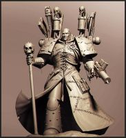 Fabius Bile - shaded WIP by Intervain