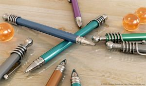 Pens and Marbles Version 2 by binaryriot