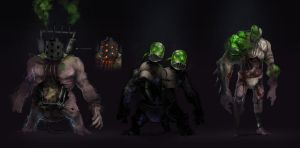 a bunch of creeps by 2blind2draw