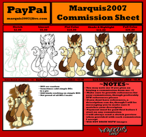 Commission Sheet Prices by Marquis2007