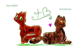 Squirrelflight and Brambleclaw by TeenBeat