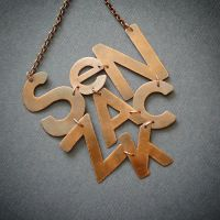 alphabet necklace by szaranagayama