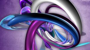 White Blue Purple Wrapped by StarwaltDesign