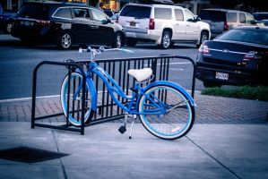 Classic Blue Bike by Jac-Reikage